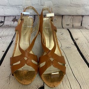 GUESS Tarissa Leather Wedges - 10
